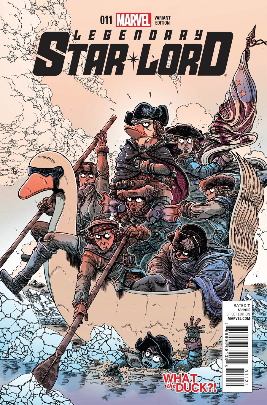 Legendary Star-Lord #11 Cover B Variant James Stokoe What The Duck Cover (Black Vortex Part 12)