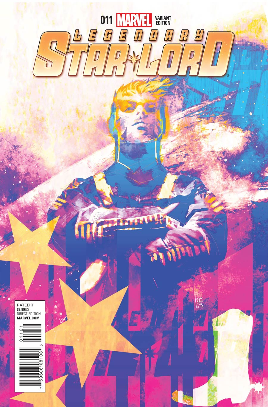 Legendary Star-Lord #11 Cover C Incentive Andrea Sorrentino Cosmically Enhanced Variant Cover (Black Vortex Part 12)