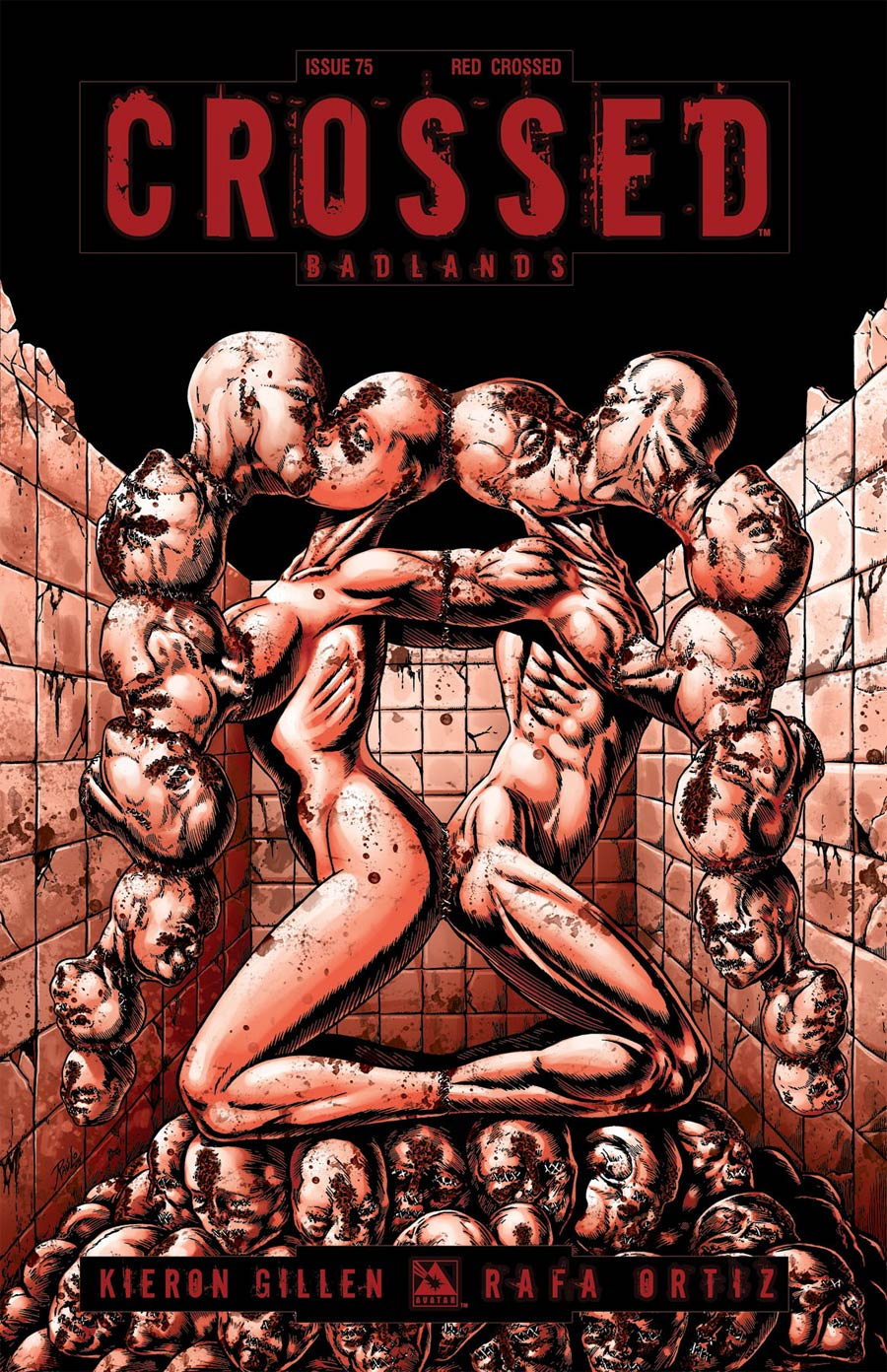 Crossed Badlands #75 Cover J Incentive Red Crossed Edition