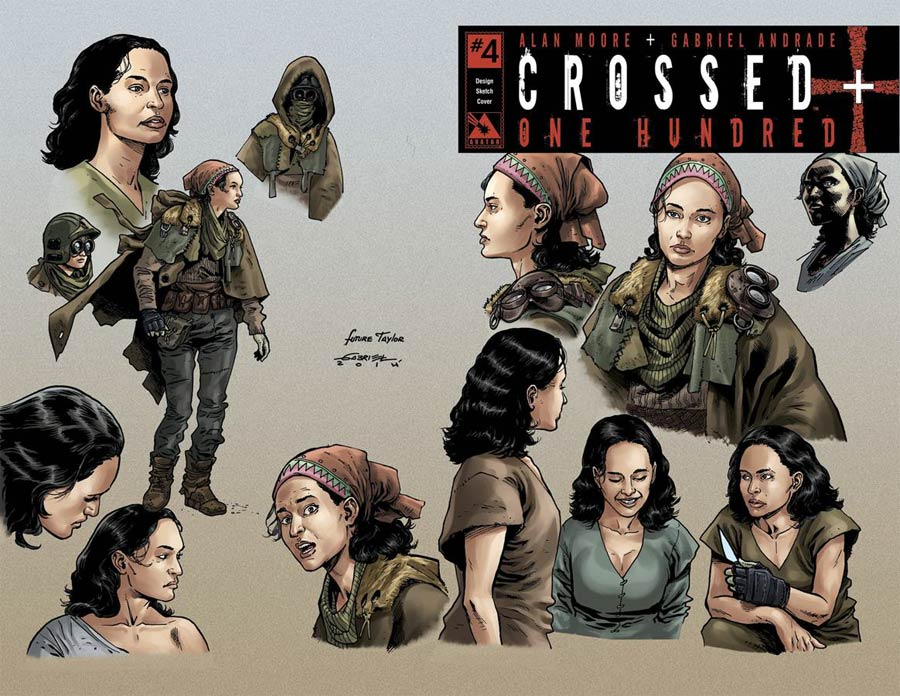 Crossed Plus 100 #4 Cover I Incentive Design Sketch Cover