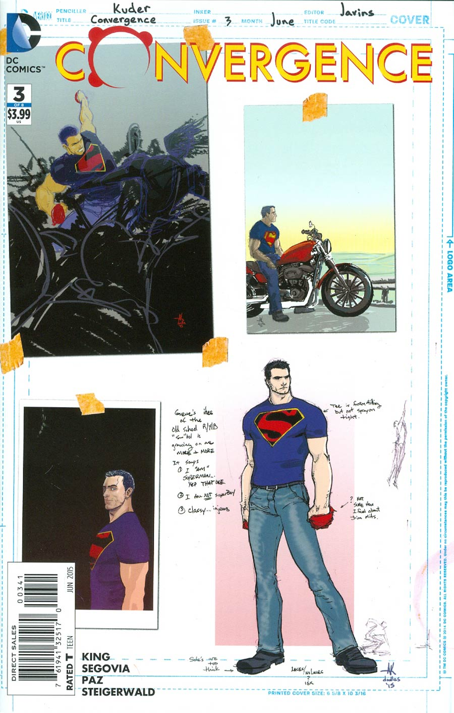 Convergence #3 Cover D Incentive Aaron Kuder Superman Sketch Variant Cover