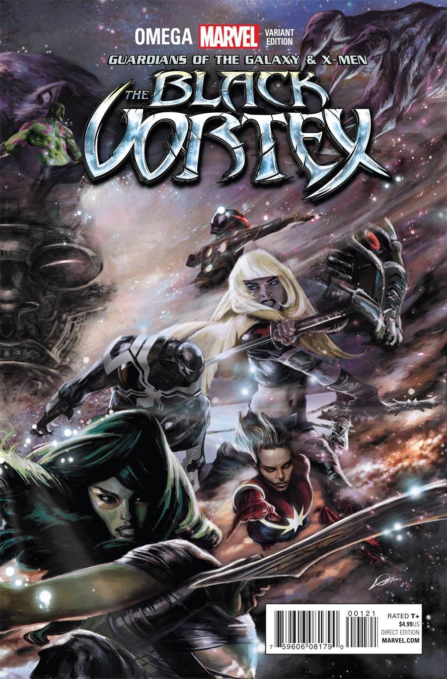 Guardians Of The Galaxy & X-Men Black Vortex Omega #1 Cover B Variant Alexander Lozano Connecting Cover (Black Vortex Part 13)