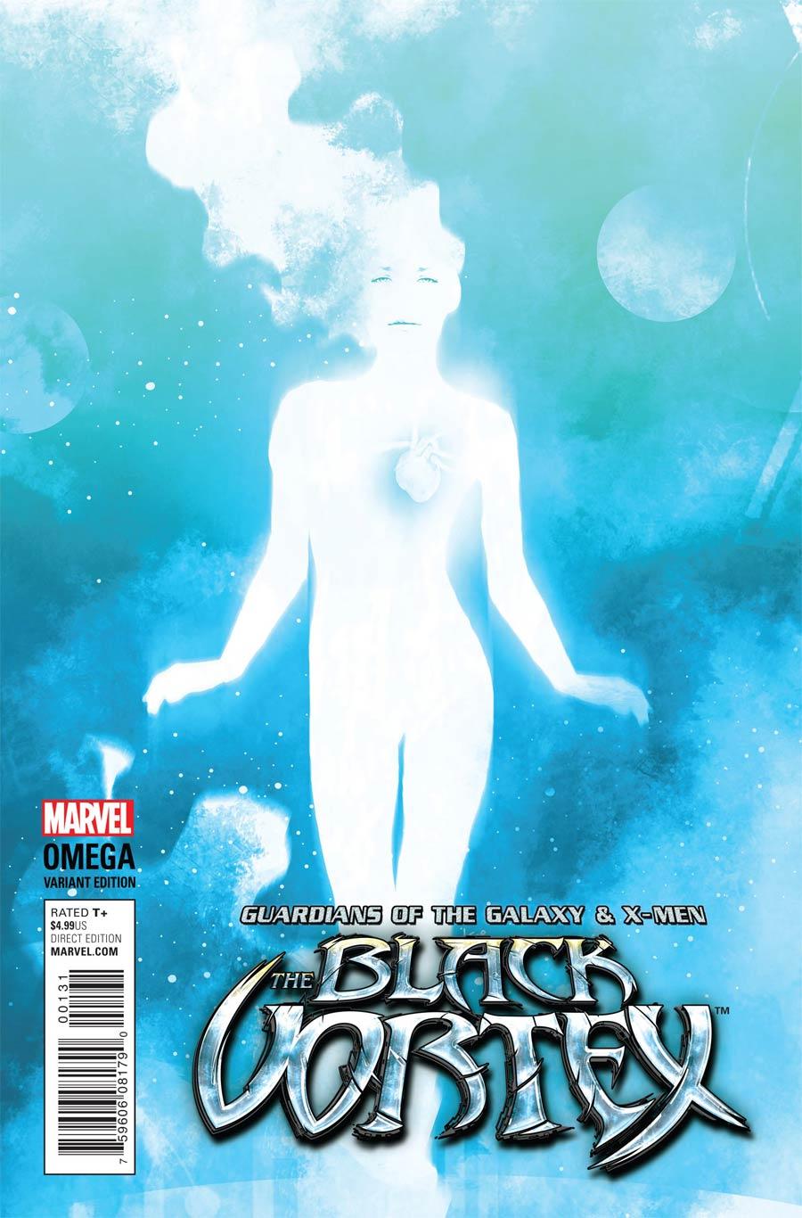 Guardians Of The Galaxy & X-Men Black Vortex Omega #1 Cover C Incentive Andrea Sorrentino Cosmically Enhanced Variant Cover (Black Vortex Part 13)