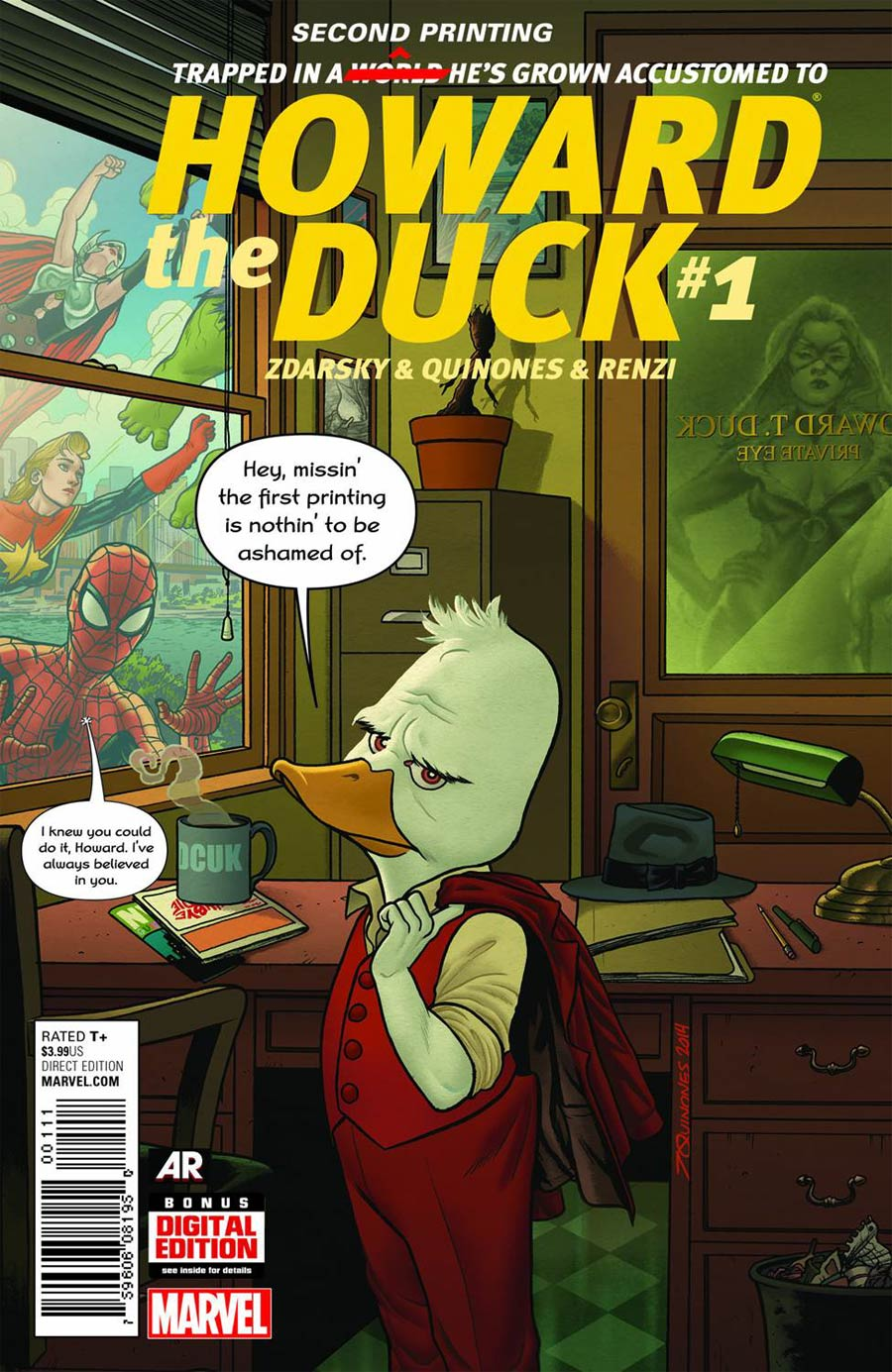 Howard The Duck Vol 4 #1 Cover J 2nd Ptg Joe Quinones Variant Cover