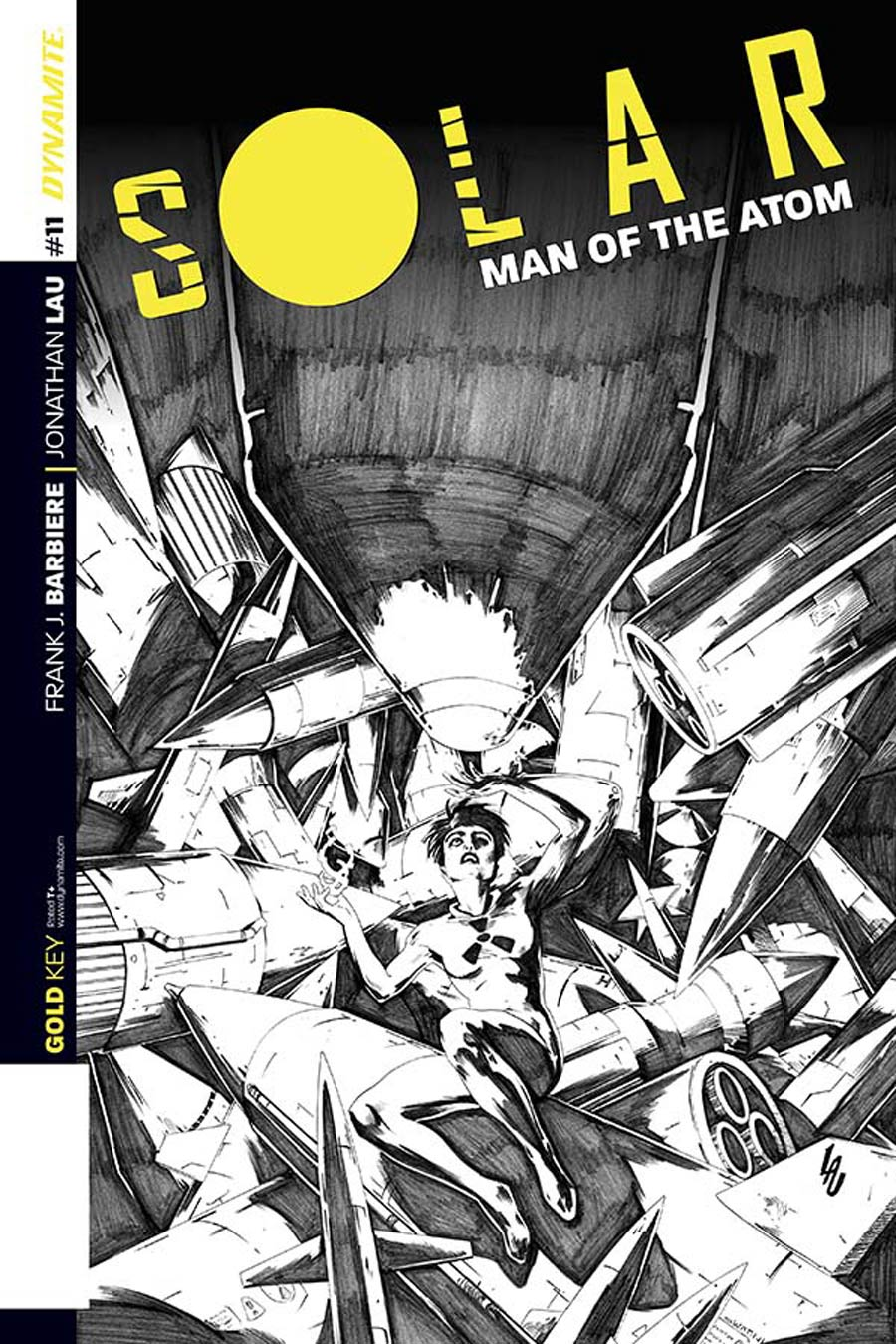 Solar Man Of The Atom Vol 2 #11 Cover D Incentive Jonathan Lau Black & White Cover