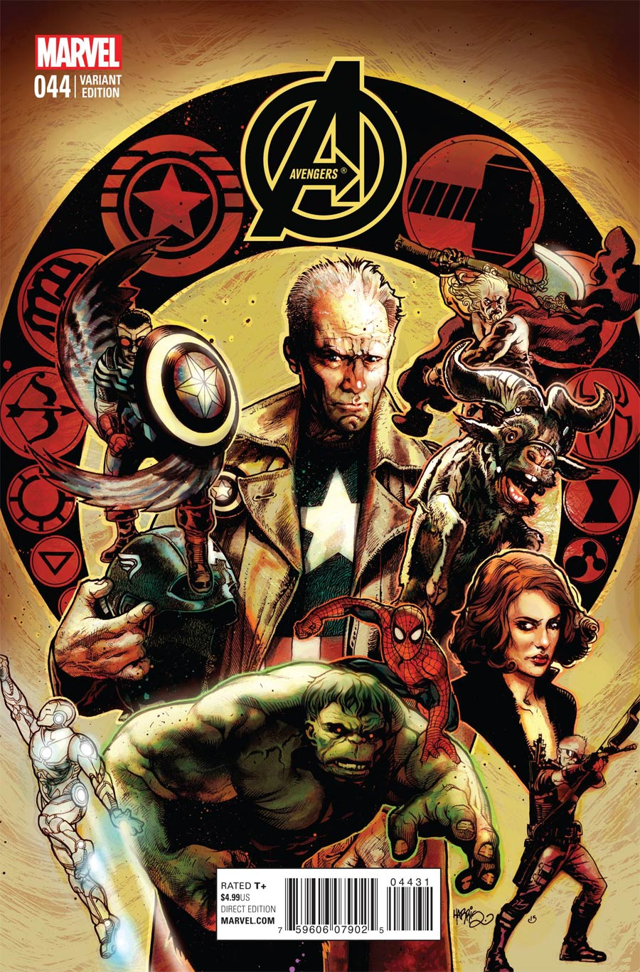 Avengers Vol 5 #44 Cover C Incentive Tony Harris Variant Cover (Time Runs Out Tie-In)