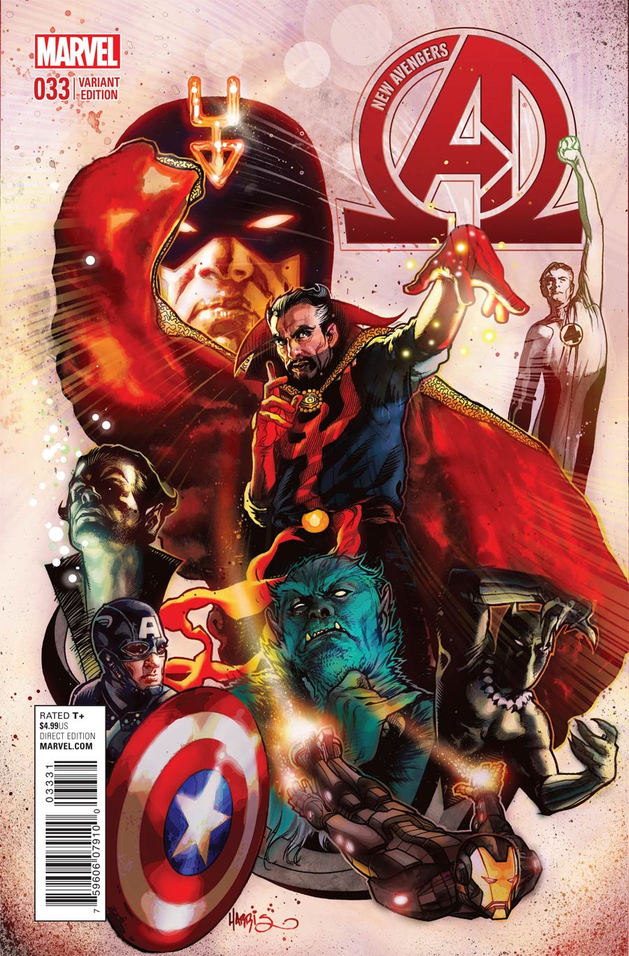 New Avengers Vol 3 #33 Cover C Incentive Tony Harris Variant Cover (Time Runs Out Tie-In)