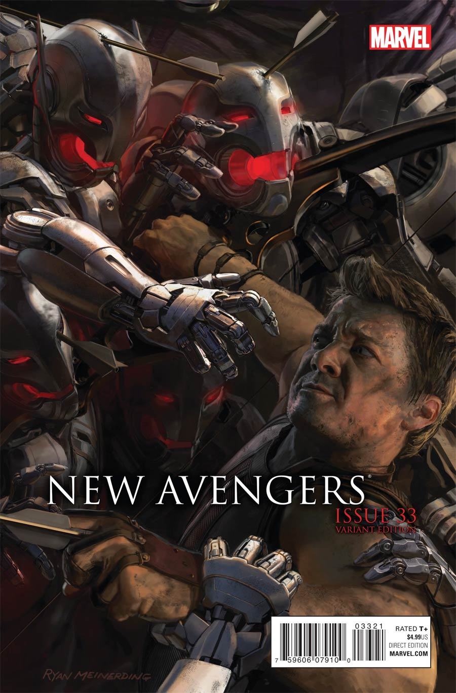 New Avengers Vol 3 #33 Cover D Incentive Avengers Age Of Ultron Movie Connecting D Variant Cover (Time Runs Out Tie-In)