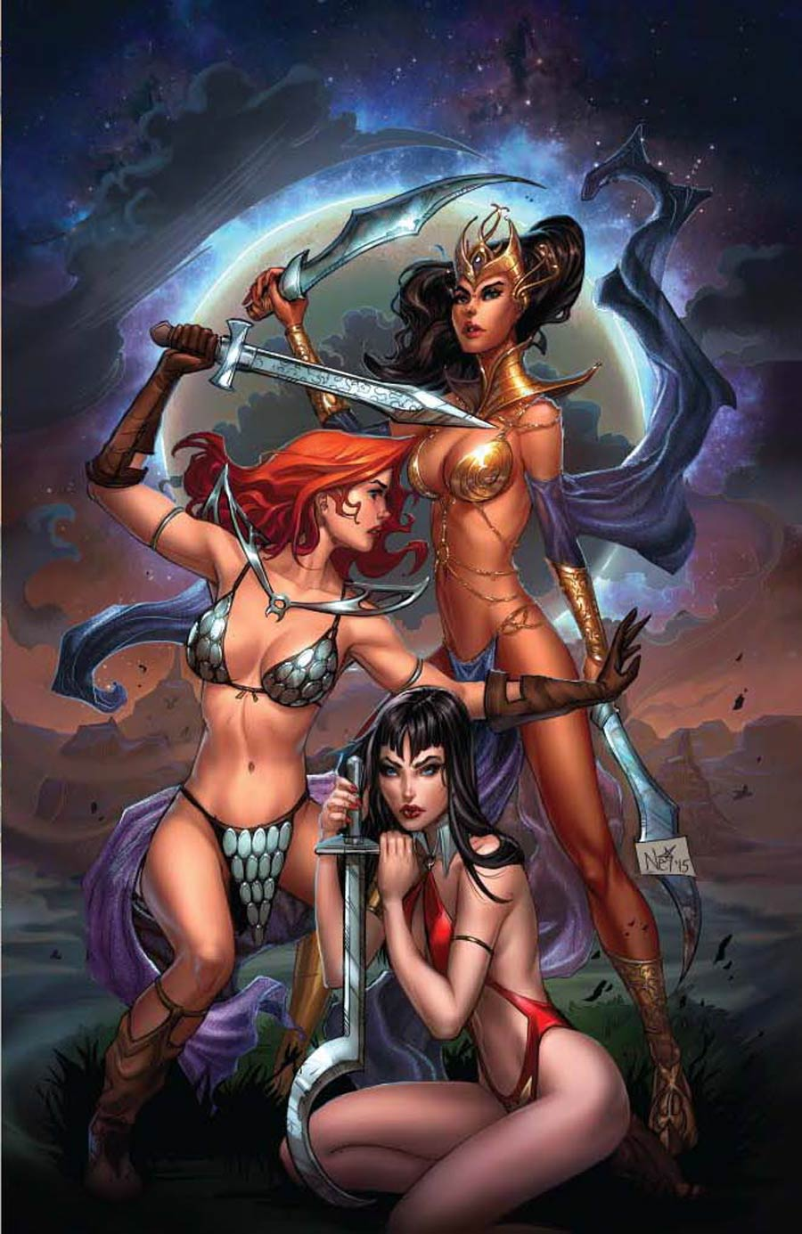 Swords Of Sorrow #1 Cover T Midtown Exclusive Nei Ruffino Virgin Cover