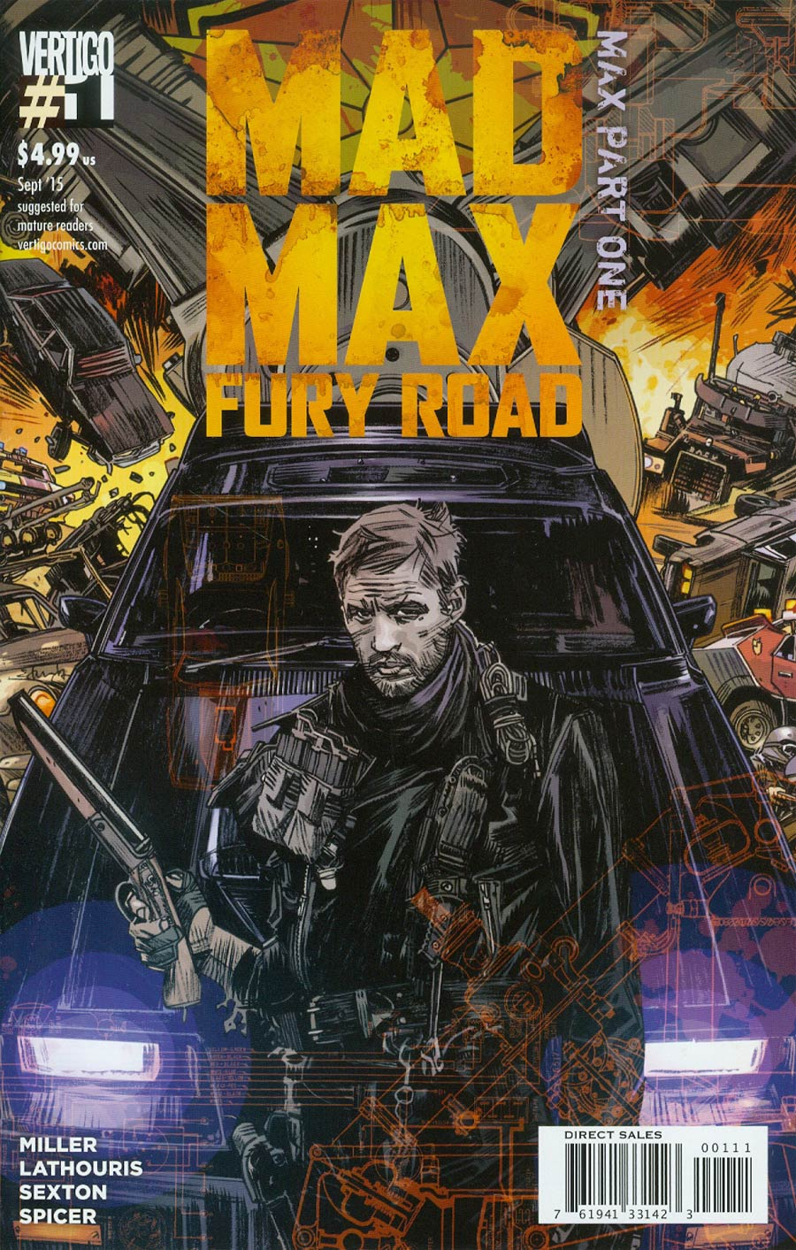 Mad Max Fury Road Mad Max #1 Cover A 1st Ptg Regular Tommy Lee Edwards Cover