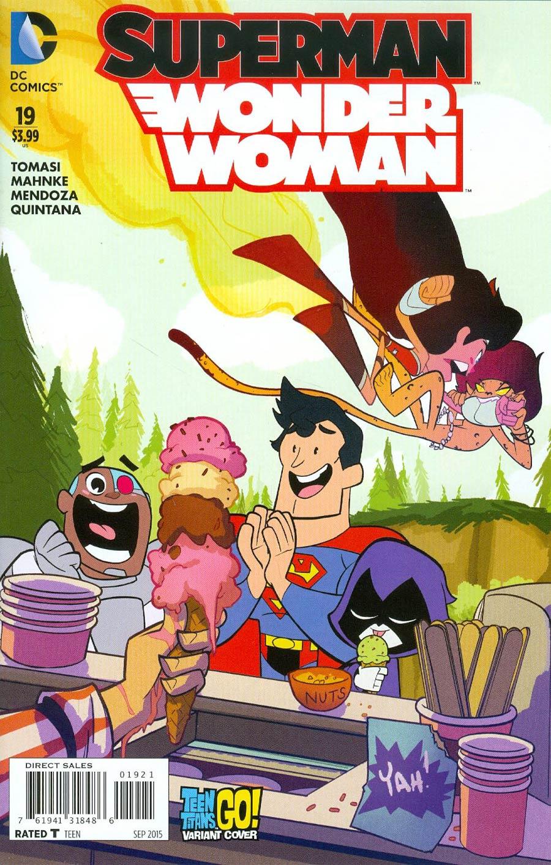 Superman Wonder Woman #19 Cover B Variant Sean Cheeks Galloway Teen Titans Go Cover