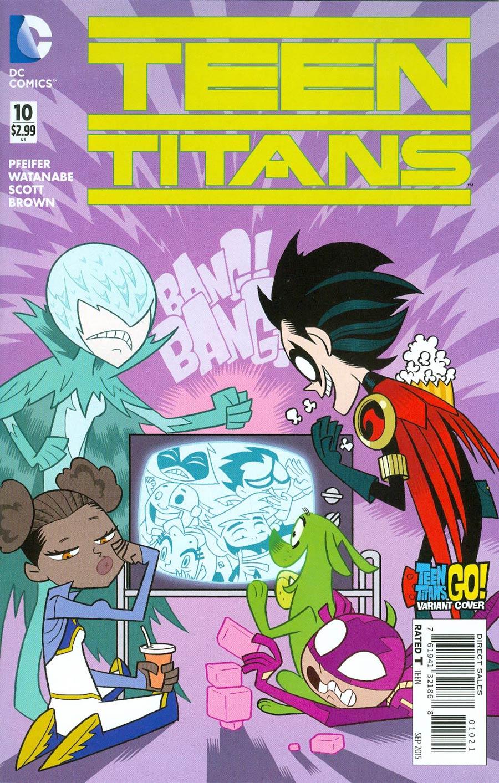 Teen Titans Vol 5 #10 Cover B Variant Ben Caldwell Teen Titans Go Cover