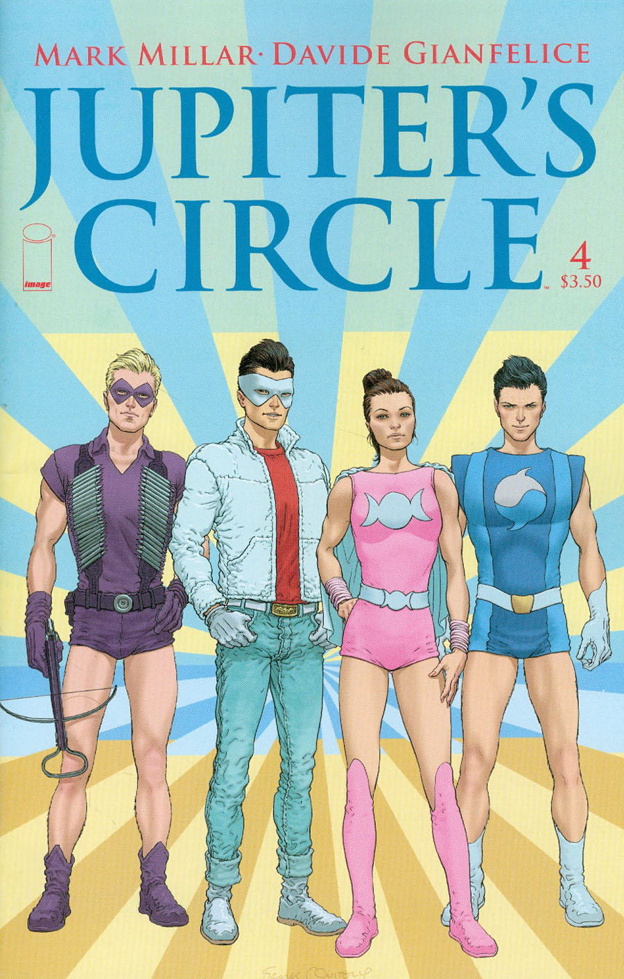 Jupiters Circle #4 Cover A Regular Frank Quitely Cover
