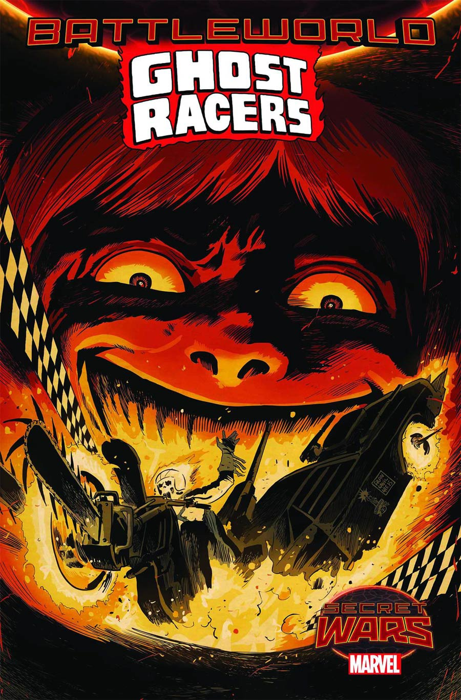 Ghost Racers #2 Cover A Regular Francesco Francavilla Cover (Secret Wars Battleworld Tie-In)