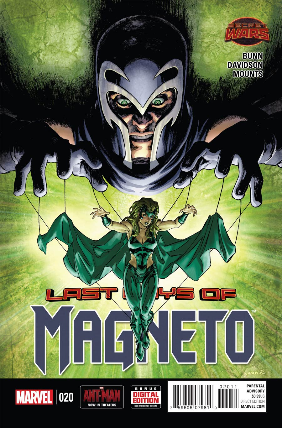 Magneto Vol 3 #20 (Secret Wars Last Days Tie-In)