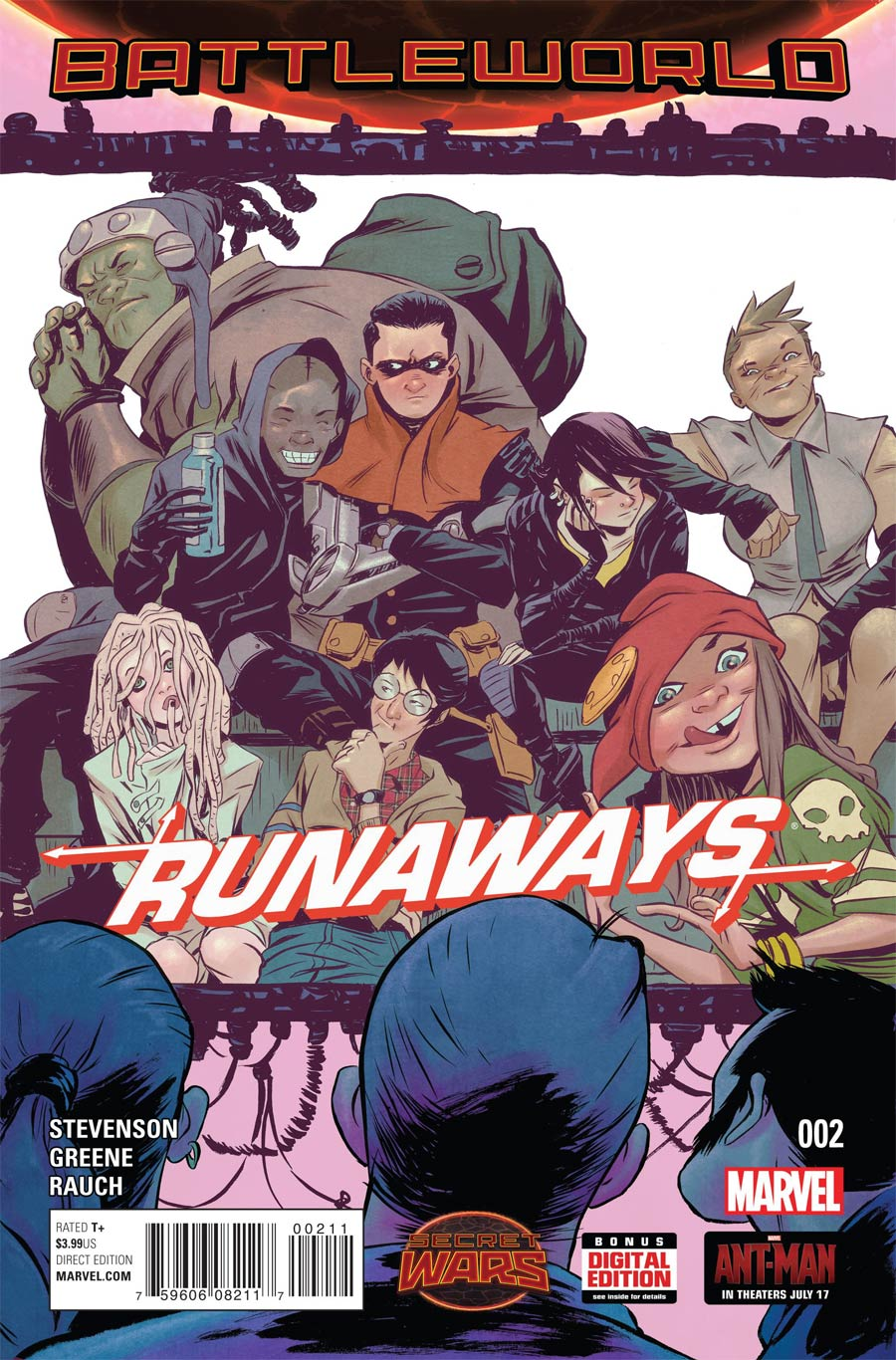 Runaways Vol 4 #2 Cover A Regular Sanford Greene Cover (Secret Wars Battleworld Tie-In)