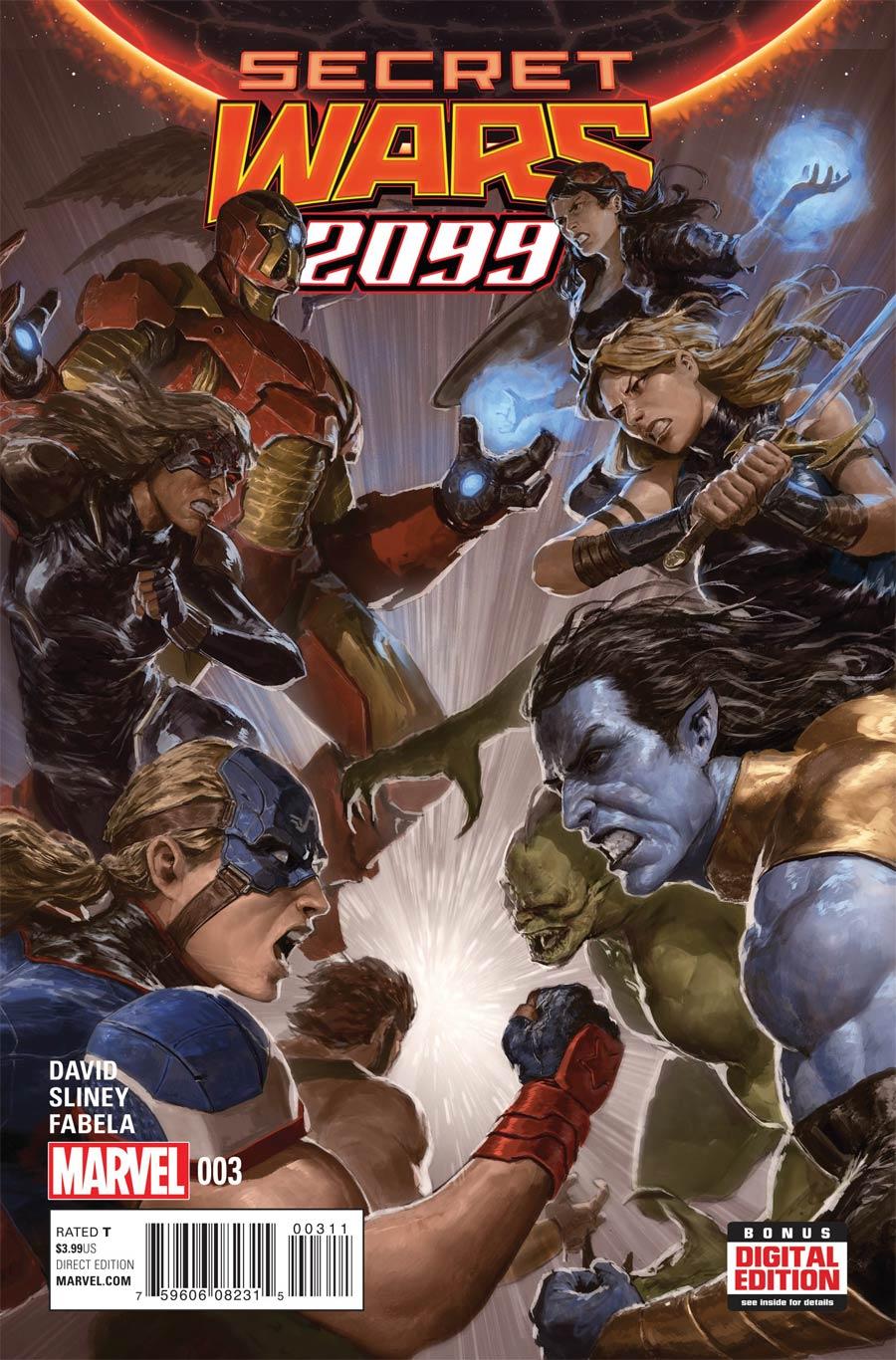 Secret Wars 2099 #3 Cover A Regular Dave Rapoza Cover (Secret Wars Warzones Tie-In)