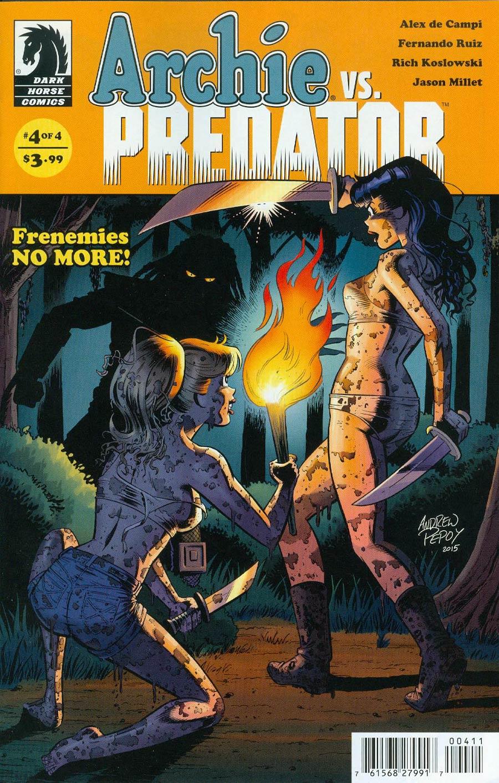 Archie vs Predator #4 Cover A Regular Andrew Pepoy Cover