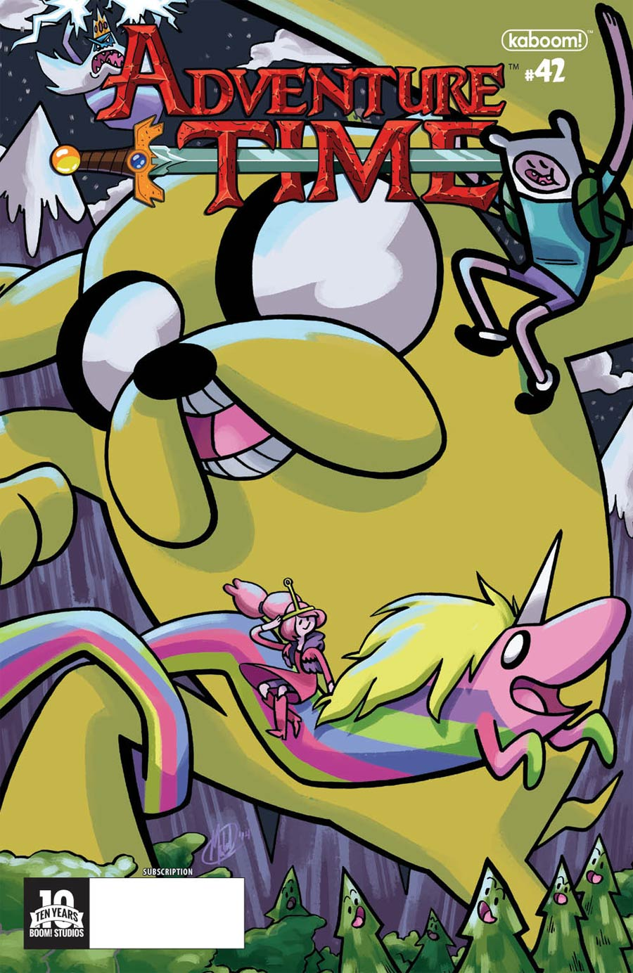 Adventure Time #42 Cover B Variant Mychal Amann Subscription Cover