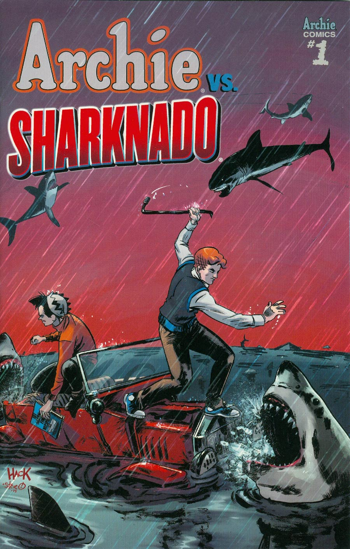 Archie vs Sharknado One Shot Cover C Variant Robert Hack Cover