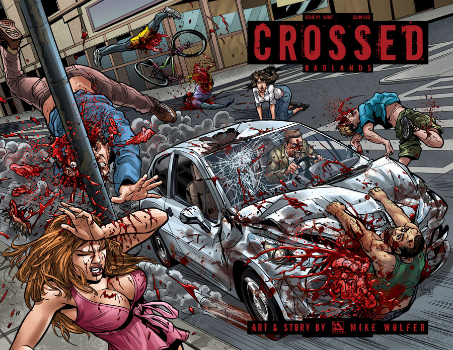 Crossed Badlands #81 Cover C Wraparound Cover
