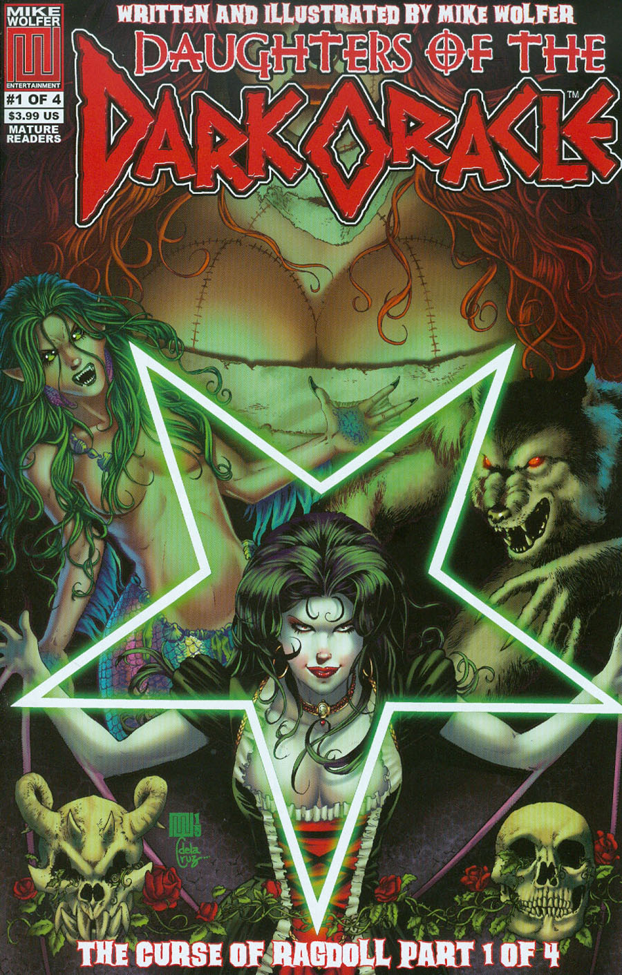 Daughters Of The Dark Oracle Curse Of Ragdoll #1 Cover A Regular Mike Wolfer Cover