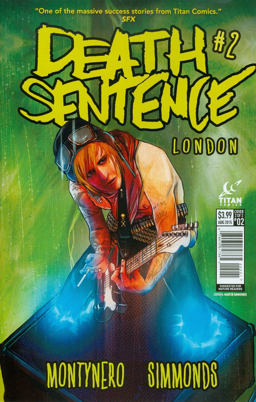 Death Sentence London #2 Cover B Variant Martin Simmonds Subscription Cover