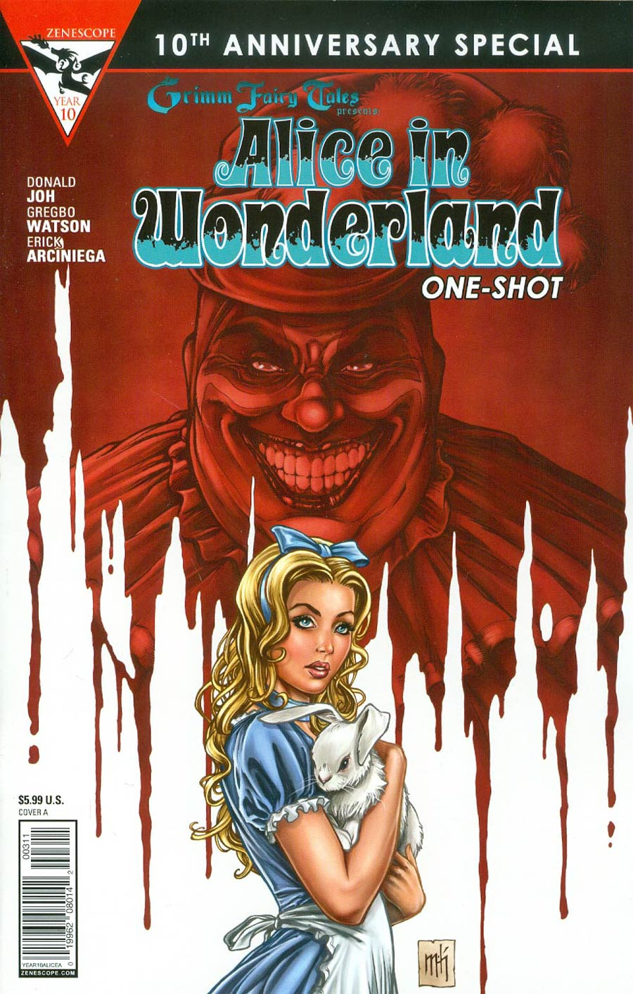 Grimm Fairy Tales Presents 10th Anniversary Special #3 Alice In Wonderland Cover A Mike Krome