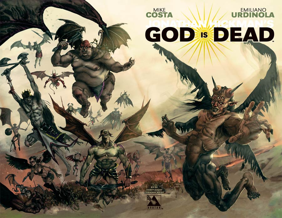 God Is Dead #38 Cover C Carnage Wraparound Cover