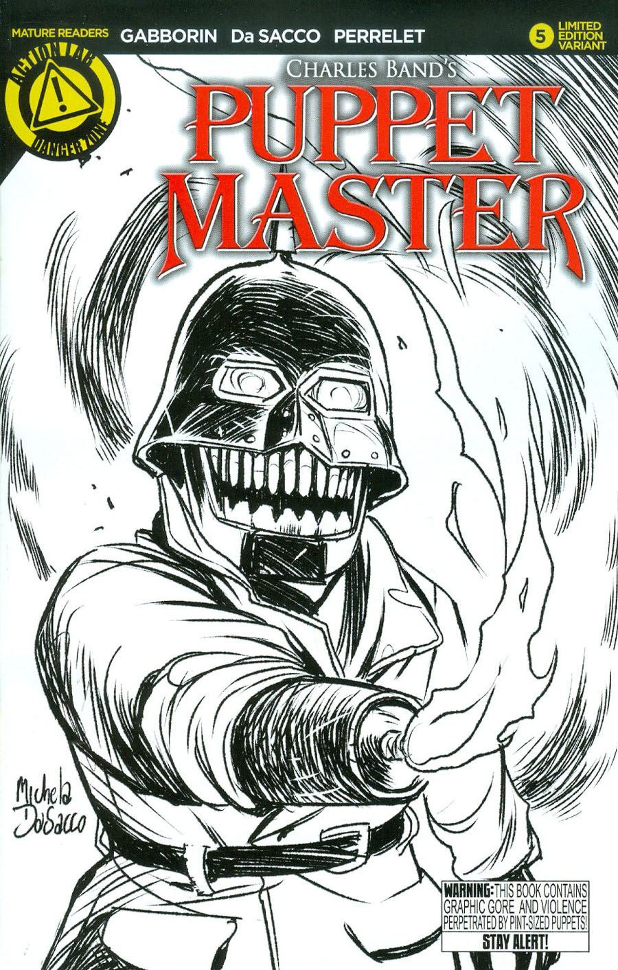 Puppet Master #5 Cover B Variant Torch Sketch Cover