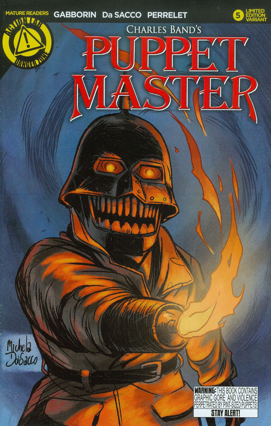 Puppet Master #5 Cover C Variant Torch Color Cover