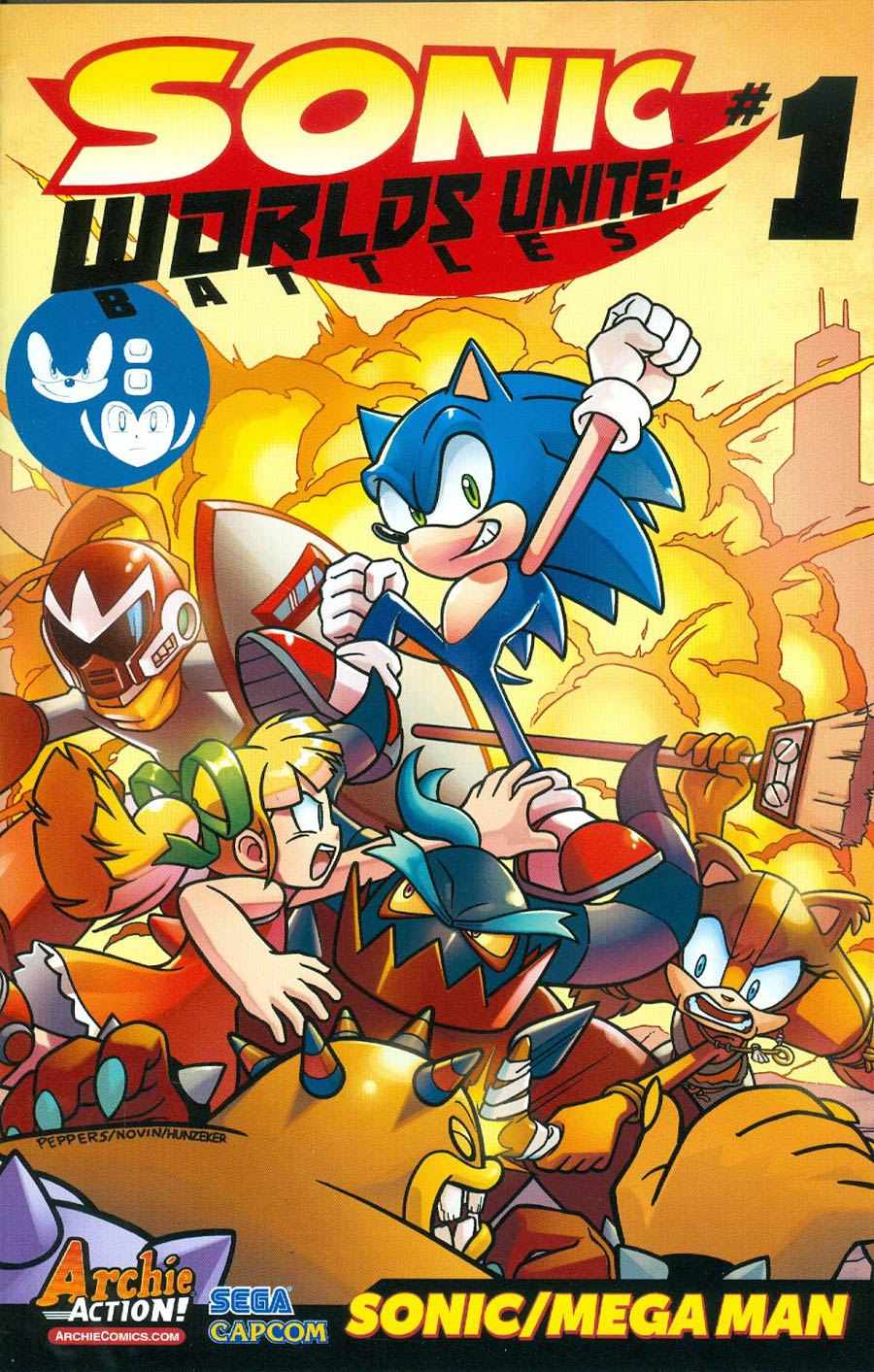 Sonic Worlds Unite Battles #1 Cover A Regular Jamal Peppers Cover (Worlds Unite Tie-In)