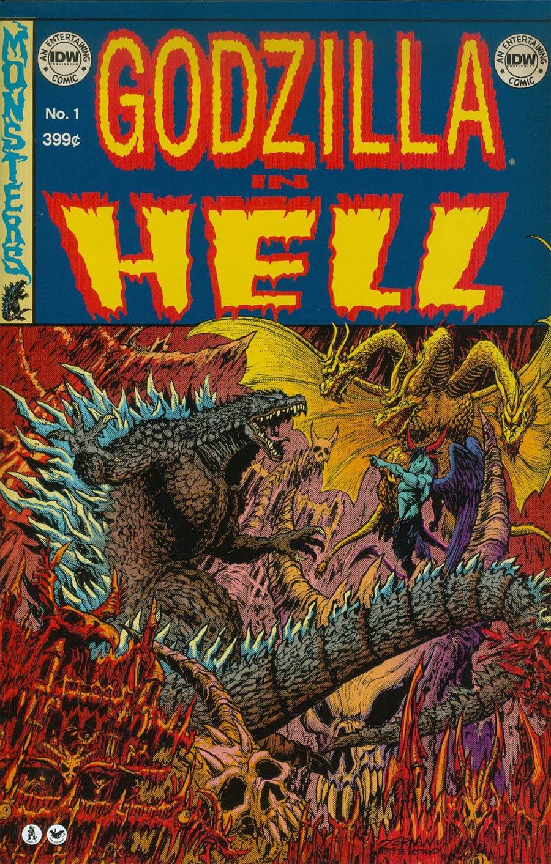 Godzilla In Hell #1 Cover B Variant Jeff Zornow EC Comics Subscription Cover