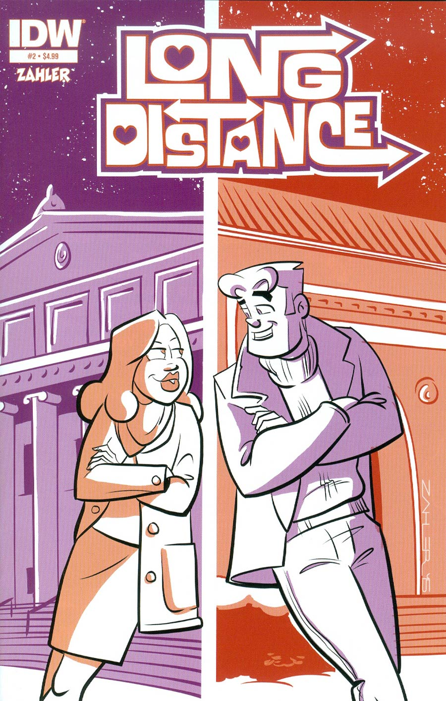 Long Distance #2 Cover A Regular Thomas F Zahler Cover