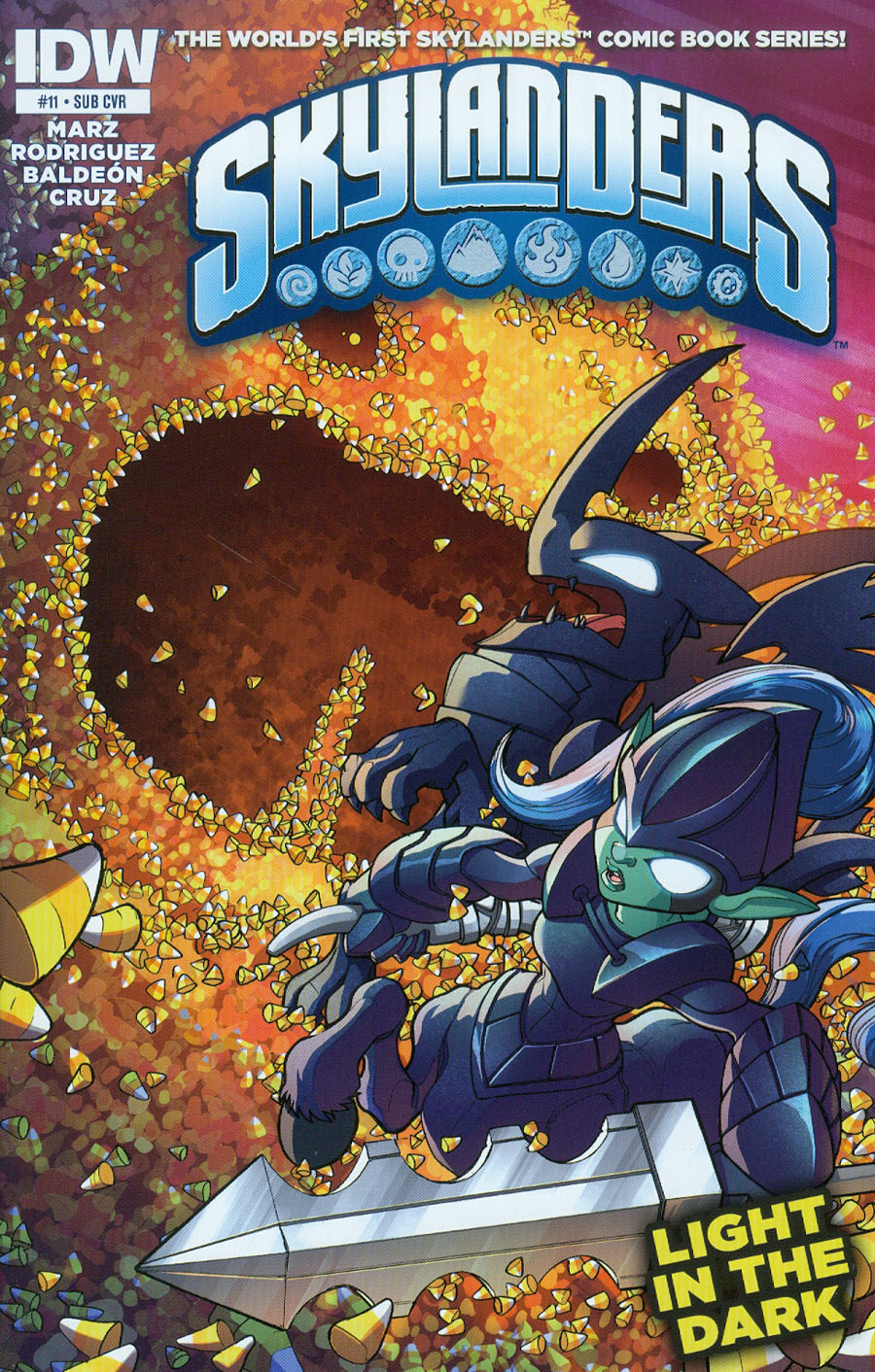 Skylanders #11 Cover B Variant David Baldeon Subscription Cover