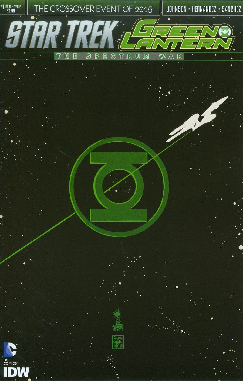 Star Trek Green Lantern #1 Cover B Variant Francesco Francavilla Cover