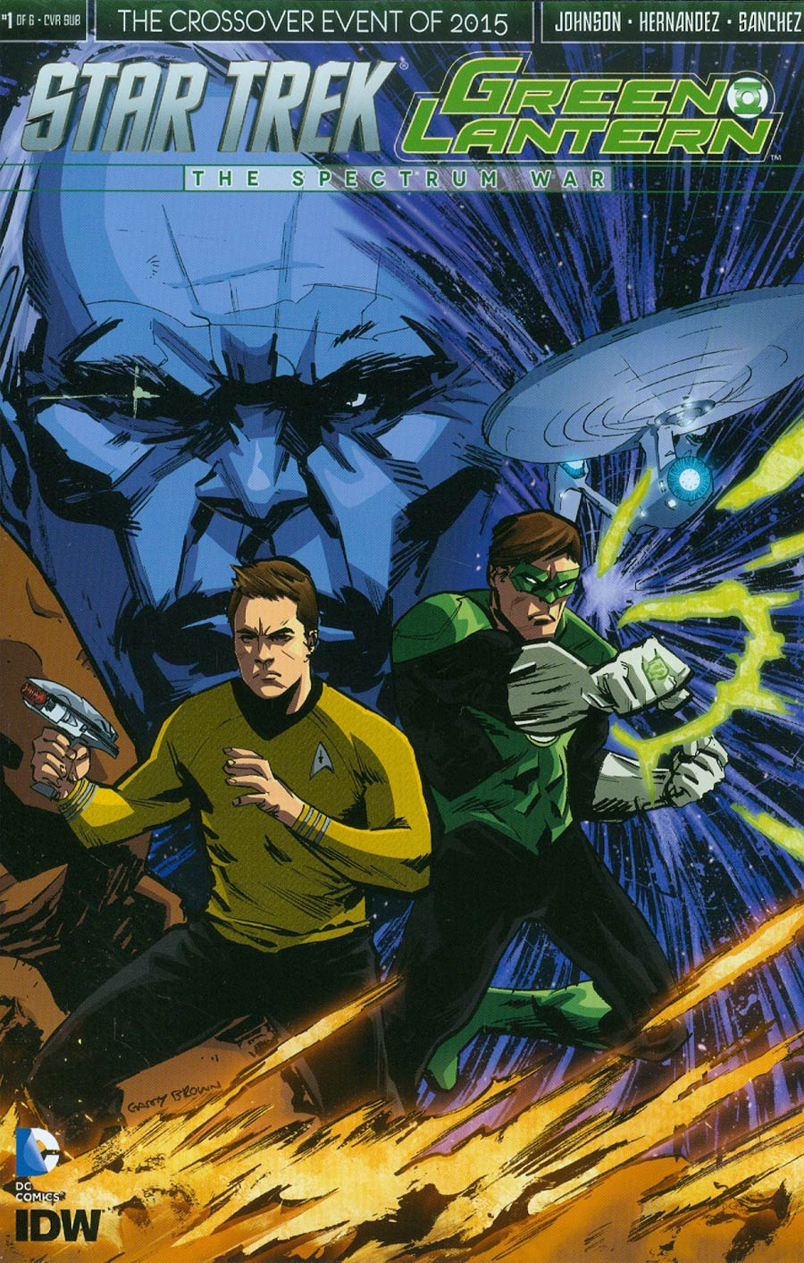 Star Trek Green Lantern #1 Cover D Variant Garry Brown Subscription Cover