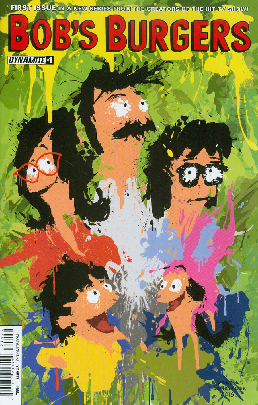 Bobs Burgers Vol 2 #1 Cover C Variant Derek Schroeder Work Of Art Cover