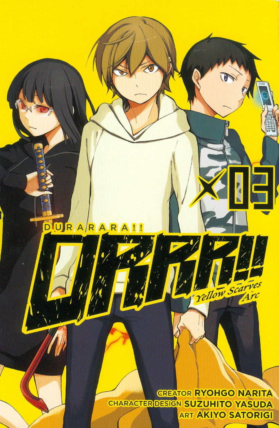 Durarara Yellow Scarves Arc Vol 3 TP