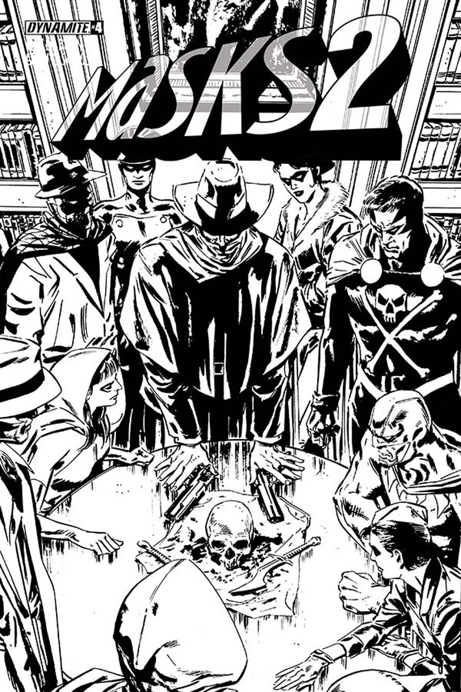 Masks 2 #4 Cover E Incentive Butch Guice Black & White Cover