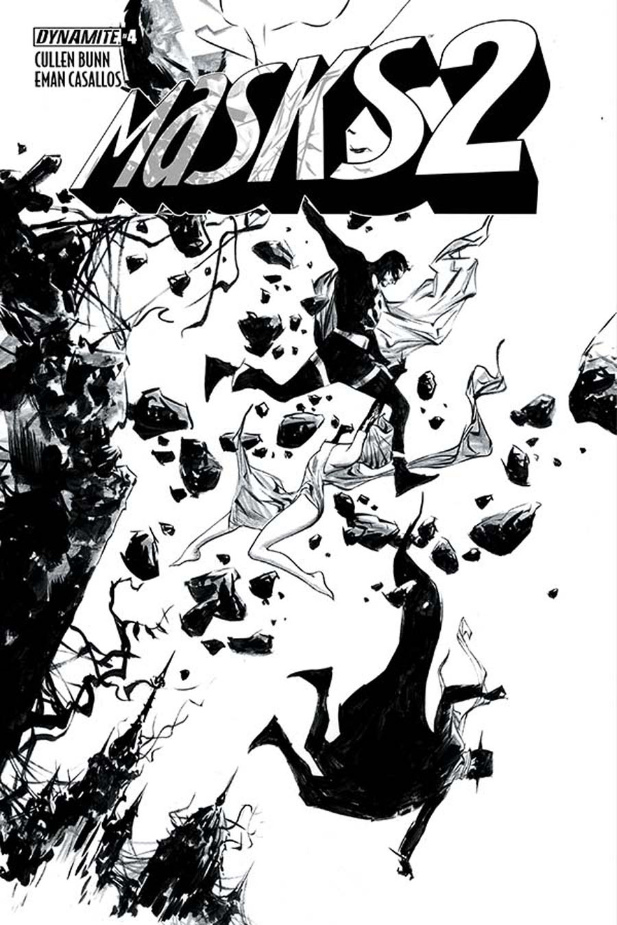 Masks 2 #4 Cover F Incentive Jae Lee Black & White Cover