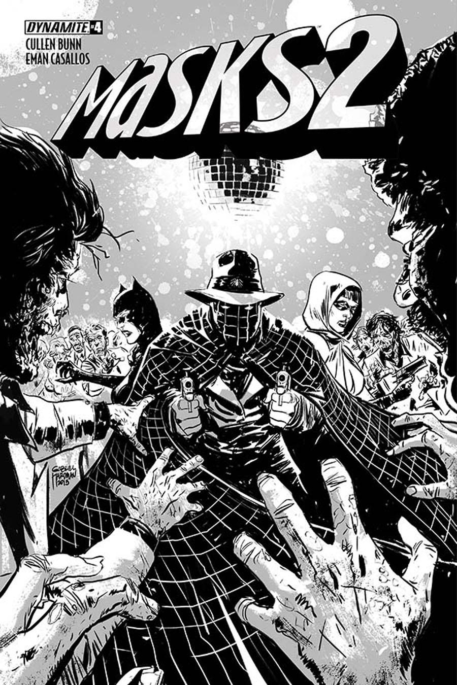 Masks 2 #4 Cover G Incentive Gabriel Hardman Black & White Cover