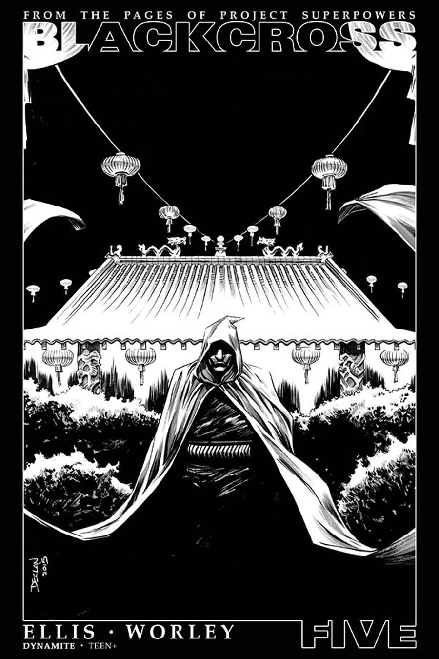 Project Superpowers Blackcross #5 Cover F Incentive Declan Shalvey Black & White Cover