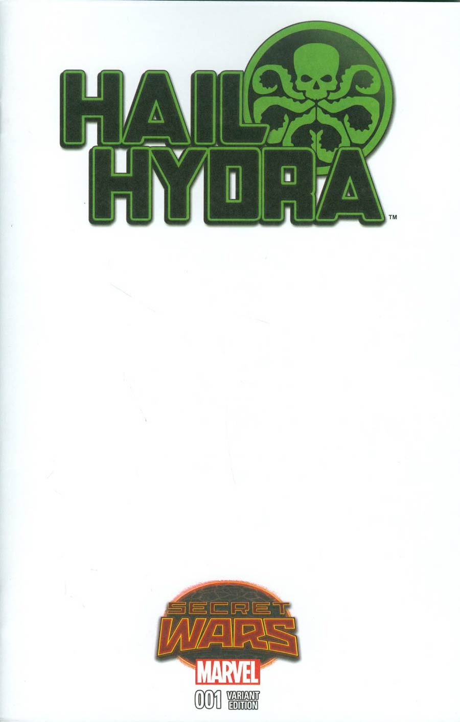 Hail Hydra #1 Cover B Variant Blank Cover (Secret Wars Warzones Tie-In)