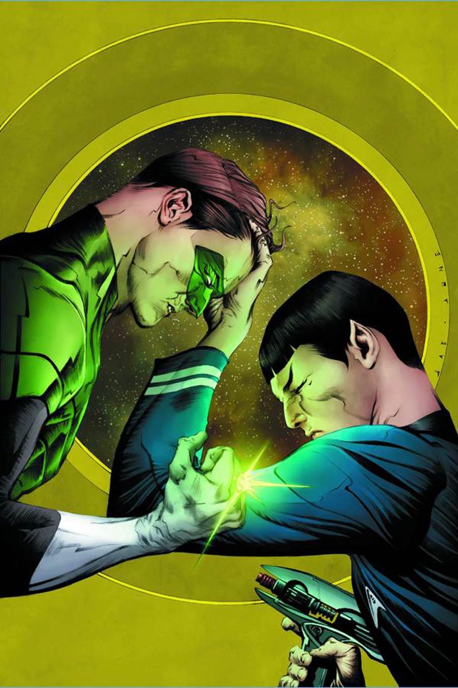 Star Trek Green Lantern #1 Cover I DF Exclusive Jae Lee Variant Cover Gold Elite Signature Series Signed By Jae Lee
