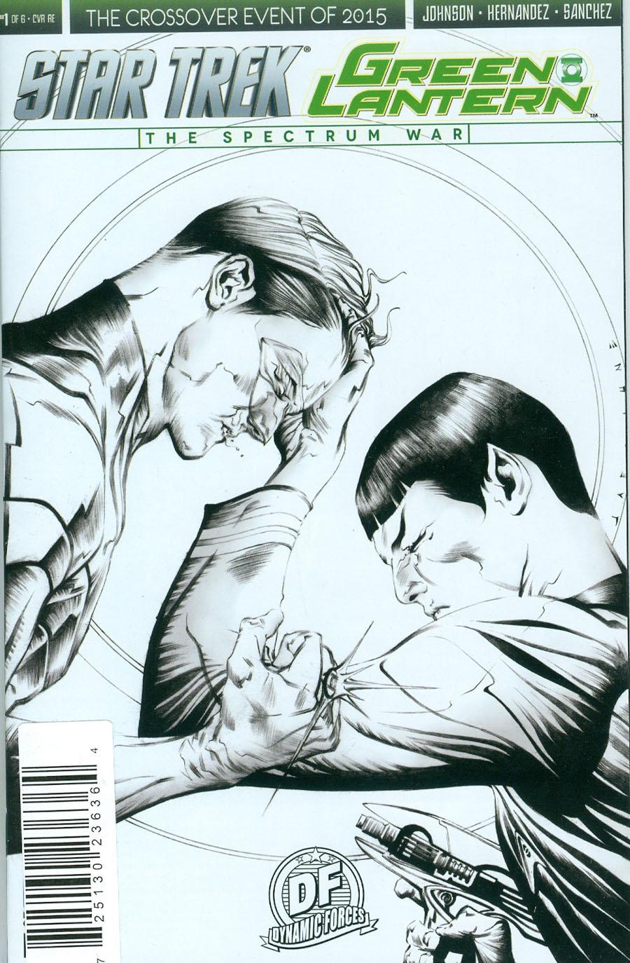 Star Trek Green Lantern #1 Cover L DF Exclusive Jae Lee Pure Line Art Variant Cover