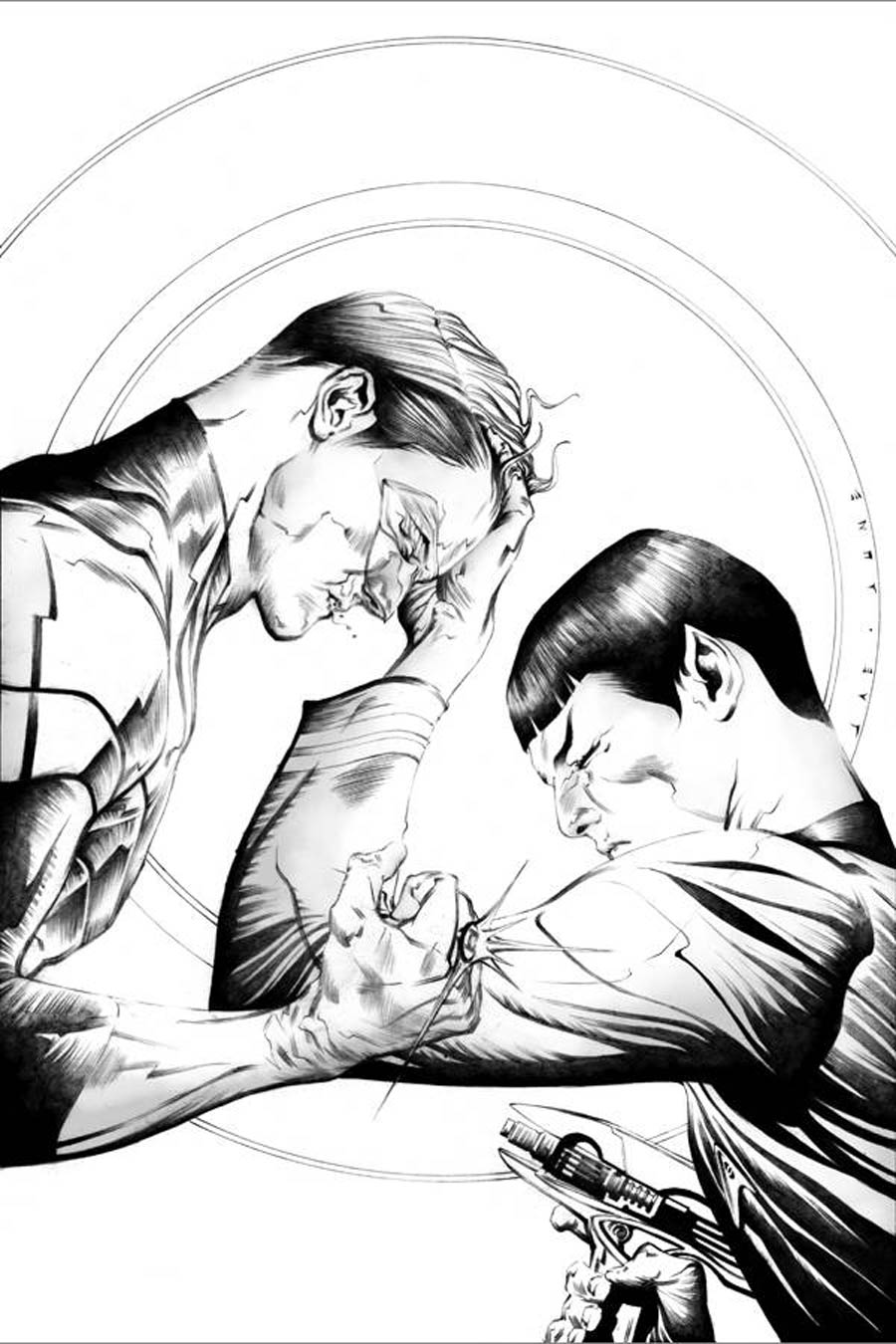 Star Trek Green Lantern #1 Cover M DF Exclusive Jae Lee Pure Line Art Variant Cover Signed By Jae Lee