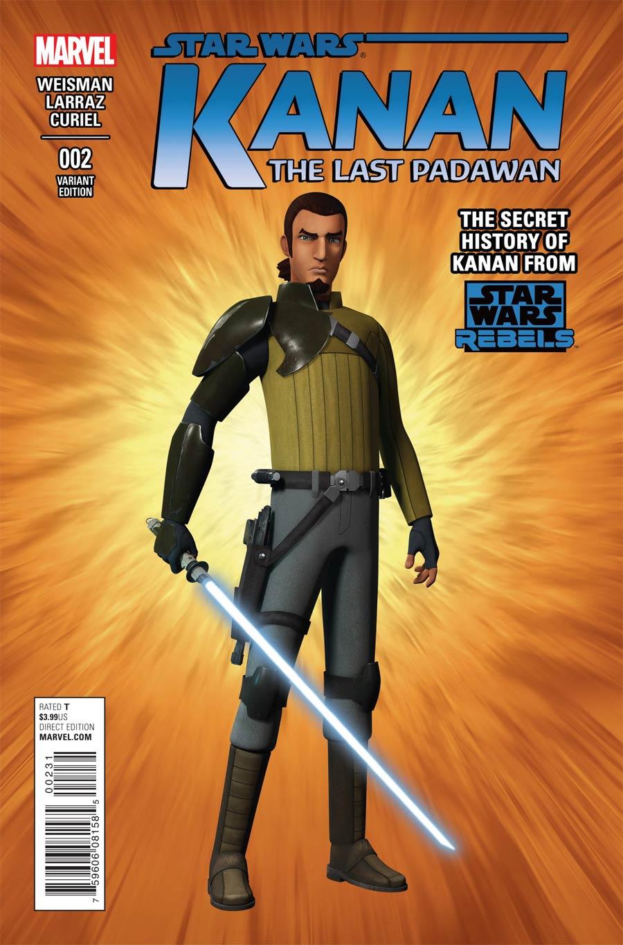 Kanan The Last Padawan #2 Cover C Incentive CGI Character Variant Cover