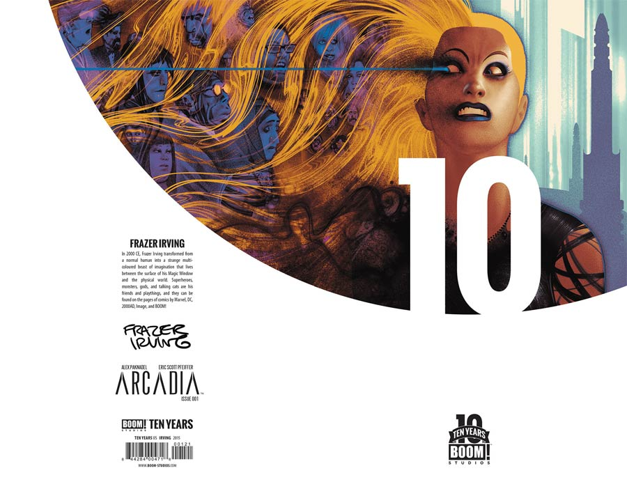 Arcadia #1 Cover C Incentive Frazer Irving BOOM 10 Years Anniversary Virgin Variant Cover