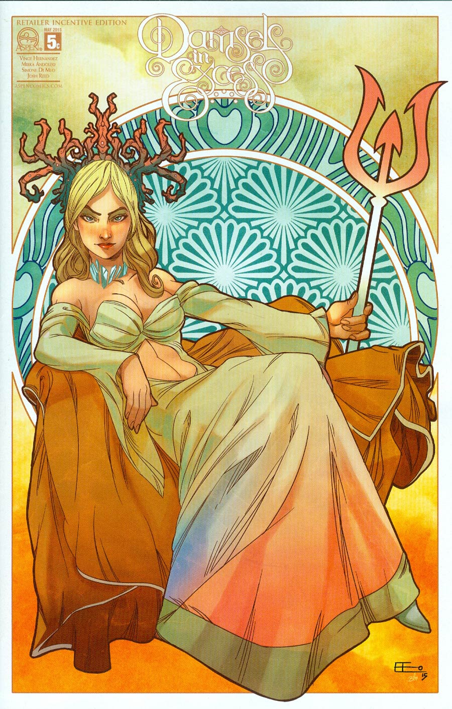 Damsels In Excess #5 Cover C Incentive Emilio Lopez Variant Cover